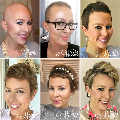 hairstyles growing back from chemo 1 year hair growth chemo hairless my cancer chic my
