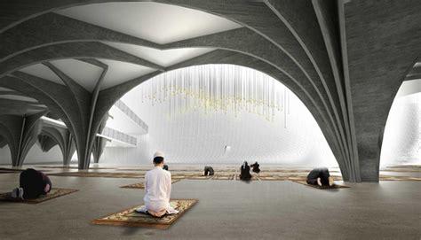 spiritual interior design prishtina central mosque proposal by aptum evolo