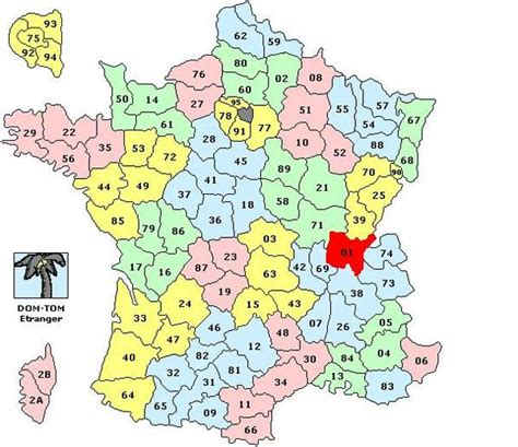 carte de france par regions  departements altoservices