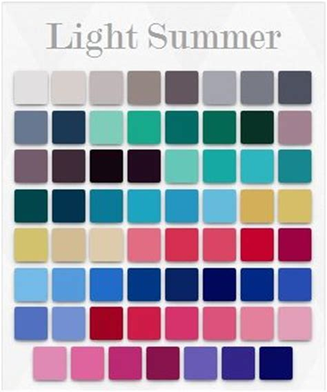 Light Summer Color Palette by 17 Best Images About Cool And Light Summer Palette On