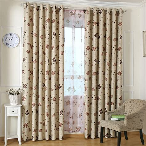 finest flower patterns inexpensive blackout curtains