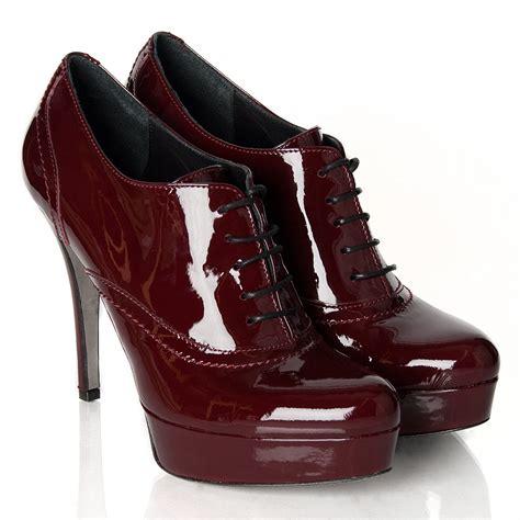 daniel burgundy vialli s patent shoe boot