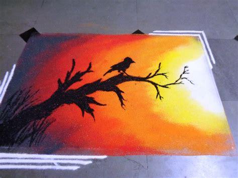 poster design rangoli how to make sunset poster rangoli youtube