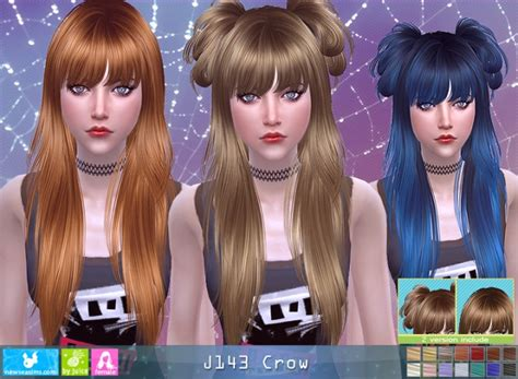 crow hair pay  newsea sims  sims  updates