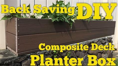 planter box  trex composite decking diy
