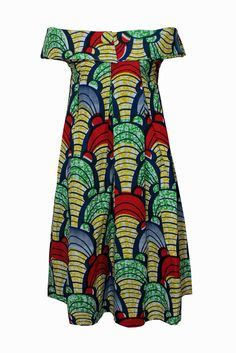 Dress Sika Scuba africans wax and fashion on