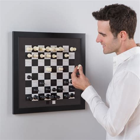 Fancy Chess Set vertical magnetic chess board the green head