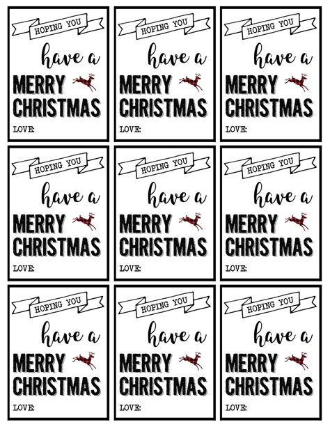 christmas labels printable  christmas gift tags printable paper trail design