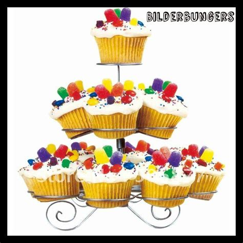 Cupcake Stand Rak Cupcake 3 Tier Edisi Birthday T45 L30 new dessert cupcake stand tree holder 3 tier metal muffin serving birthday cake 13 cups