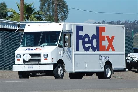 fedex express delivery truck flickr photo
