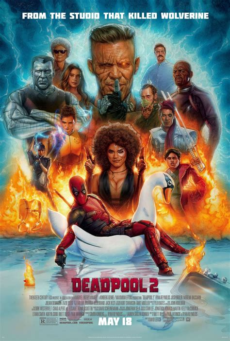 deadpool 2 poster deadpool 2 poster mocks the ending of logan collider