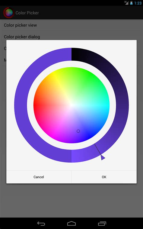 color picker for android chiral code