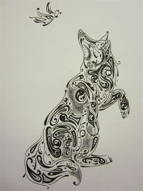 abstract wolf coloring pages abstract tribal wolf by wolfdemon001 on deviantart