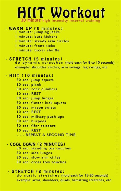best 25 hiit workout routine ideas on