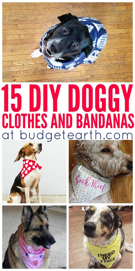 diy pet stuff 15 diy clothes bandanas budget earth
