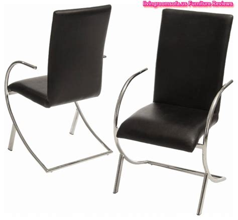 leather black modern dining chairs