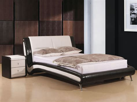 Relaxwell Mattress Price by Black White Faux Leather Bed Or King Size