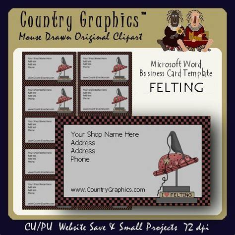 country card templates business card template primitive felting country graphics