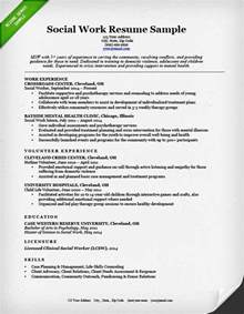 Exle Of Work Resume by Social Worker Resume Exles Best Resume Gallery