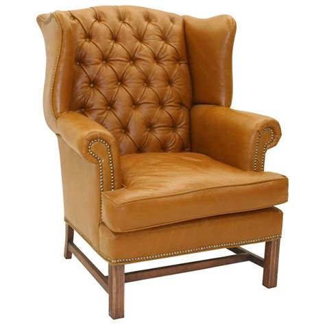 wingback leather armchair armchair leather as classic office equipment