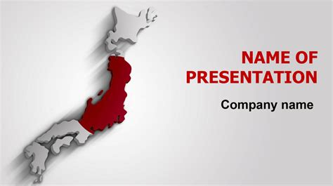 Download Free Japan Flag Powerpoint Theme For Presentation Japanese Powerpoint Template