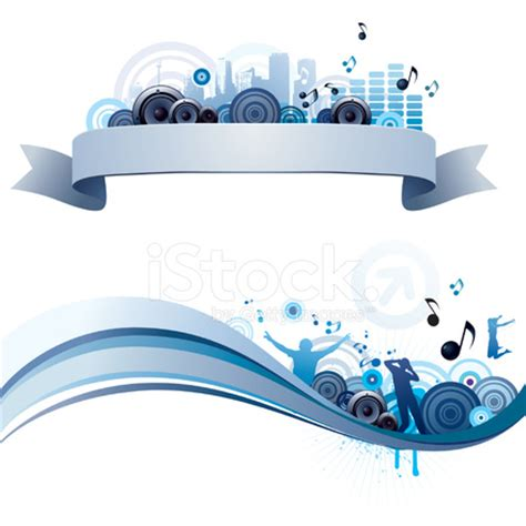 imagenes para header web music themed header and footer stock vector freeimages com