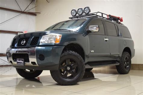 custom lifted nissan armada unique nissan armada se 4x4 lifted tow roof bskt driving