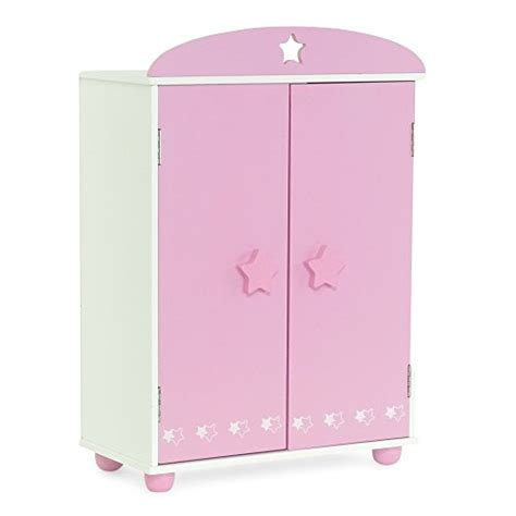 18 inch doll storage cabinet 18 inch doll furniture pink armoire with star detail