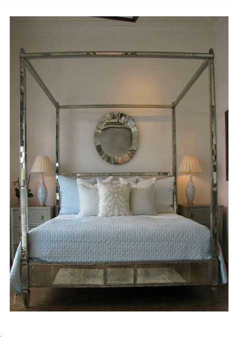 mirrored canopy bed regency mirrored canopy bed the mirrored bed company