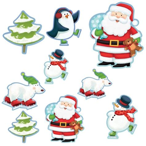 12 magical christmas santa friends cutout party