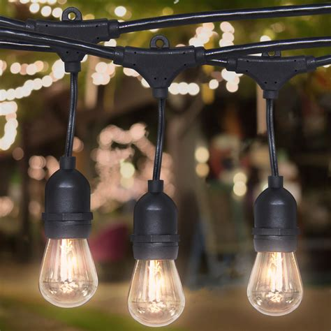 string outdoor patio lights commercial weatherproof 48 outdoor string lights 16 bulbs