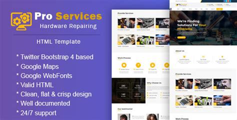 html 5 base template pro services repair responsive html 5 template