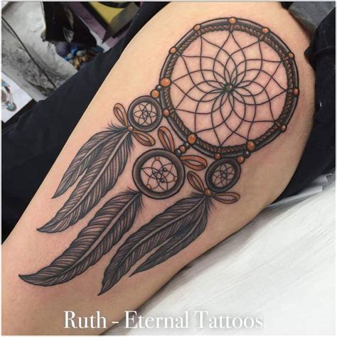 unique dreamcatcher tattoo designs unique dreamcatcher on right back shoulder