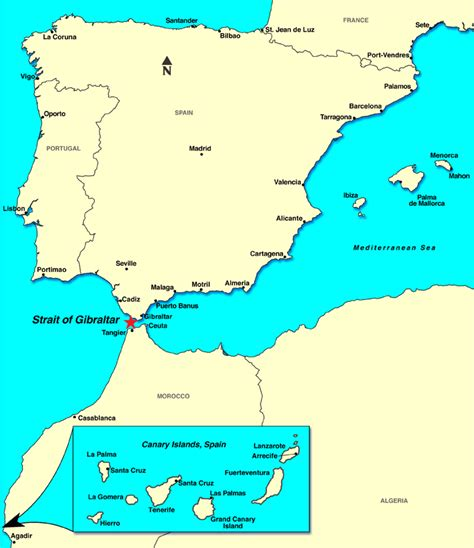 strait of gibraltar map strait of gibraltar discount cruises last minute cruises notice cruises vacations to go