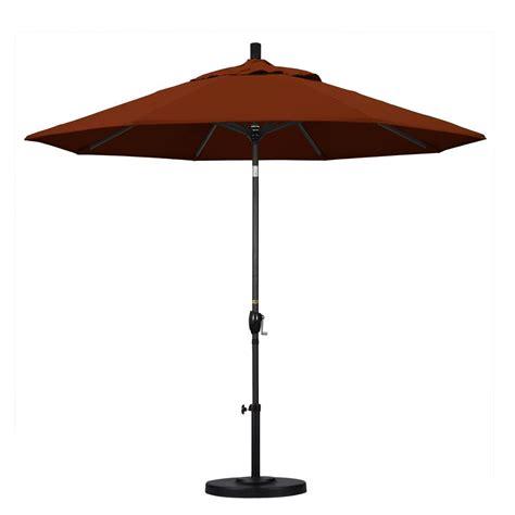 California Patio Umbrellas California Umbrella 9 Ft Aluminum Push Tilt Patio Umbrella In Brick Pacifica Gspt908302 Sa40