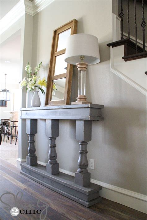 Long Skinny Console Table Diy Console Table Shanty 2 Chic