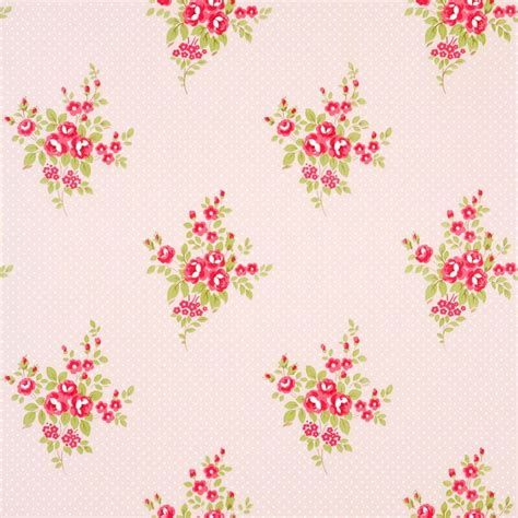 floral bouquet shabby chic wallpaper small floral fawn