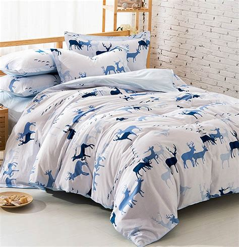 Home Trends Bedding Sets Blur Deer Bedding Sets 100 Cotton European Trend Home Textiles Flat