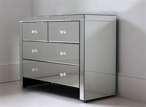 Mirror Chest Drawers by Four Drawer Mirrored Chest By Out There Interiors