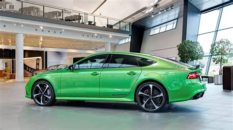 audi rs   looked  good     lime green