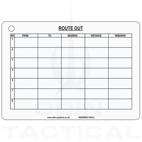 a6 word card template a6 route cards a6 single slate cards odin tactical
