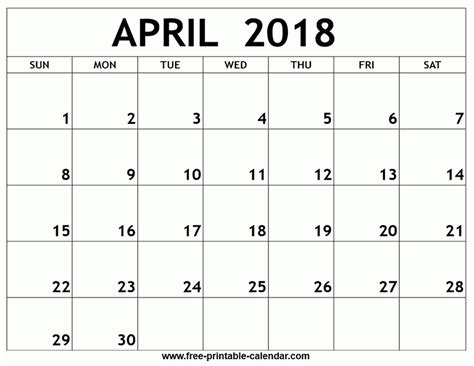 printable quarterly calendar 2018 printable monthly calendar april 2018 journalingsage com