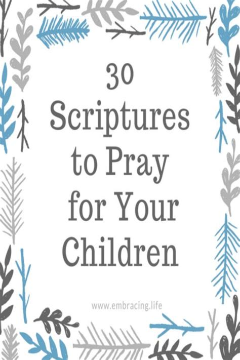 printable parenting quotes 30 scriptures to pray for your child ren scriptures