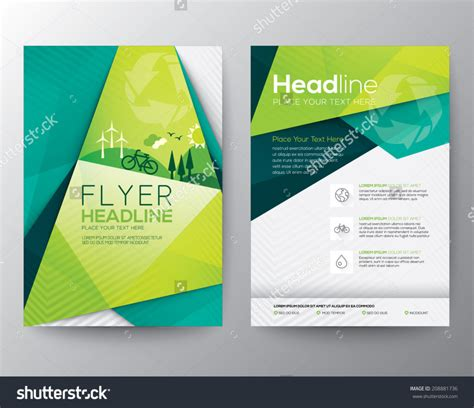 free template for flyer home design abstract triangle brochure flyer design