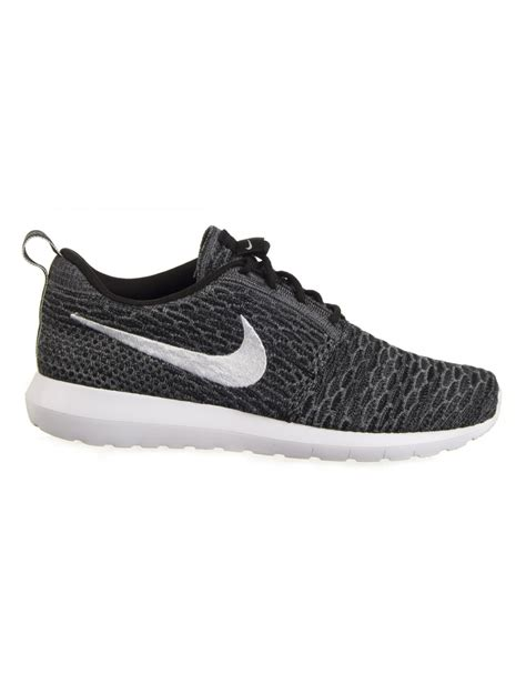 angelus paint flyknit nike flyknit roshe run shoes black white trainers from