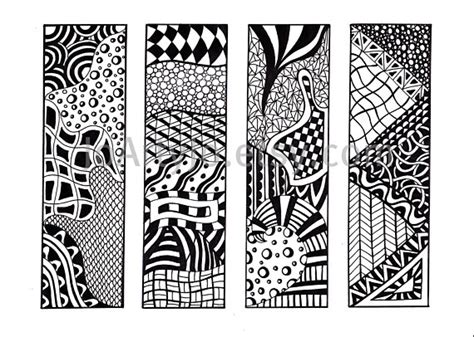 Their Black Bookmarks by Printable Bookmarks Zendoodle Bookmarks Black And White
