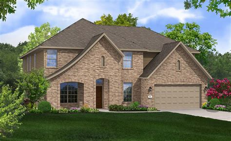 brown home plan by gehan homes in lakeside at lake georgetown