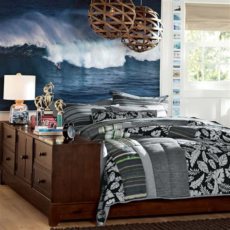 surf bedroom ideas hawaii surfer wall mural pbteen