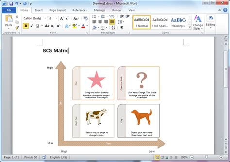 Bcg Matrix Templates For Word Bcg Matrix Template