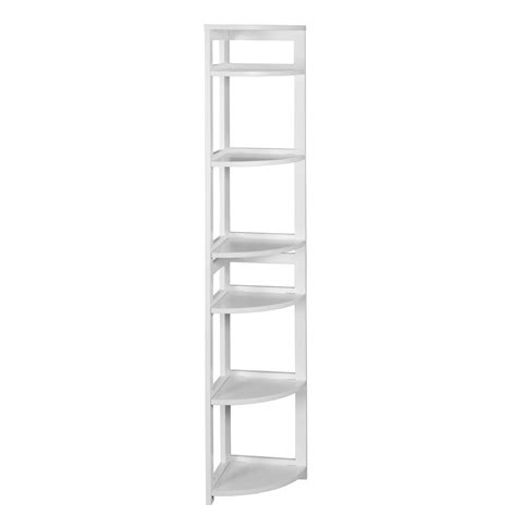 Origami 6 Tier Folding Multipurpose Bookcase In White Rb Folding Bookcase White